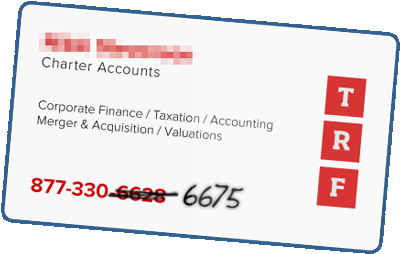 business card financial phone number