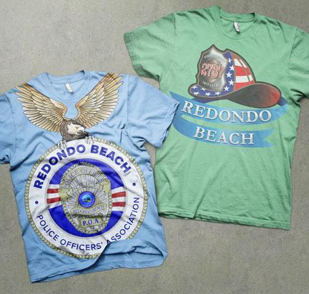 logo design redondo beach police t-shirt